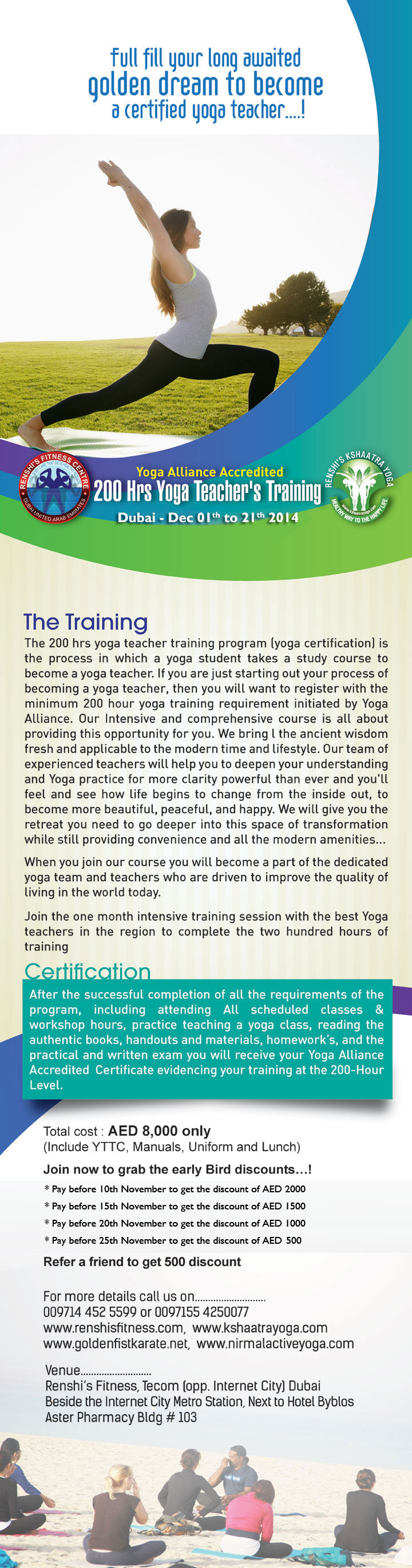 Yoga Teacher Training 2014 Dubai, UAE